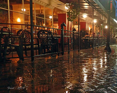 Rainy Night In Gainesville Art Print