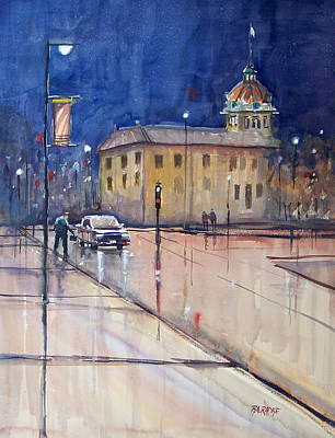 Painting - Rainy Night In Green Bay by Ryan Radke