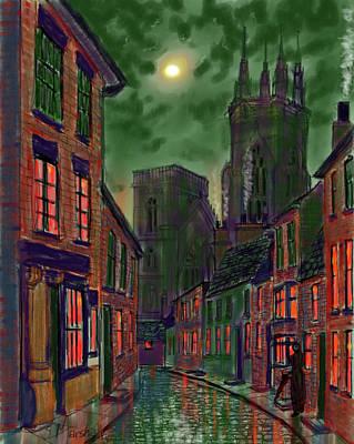 Painting - Rainy Night In Kirkgate by Glenn Marshall