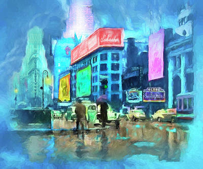 Painting - Rainy Night In New York by Michael Cleere