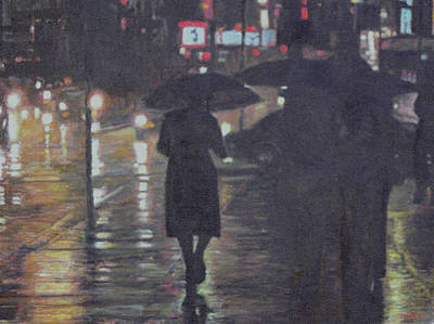 Painting - Rainy Night by Masami Iida