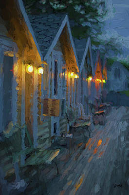 Photograph - Rainy Night Motel - Painterly by David Gordon