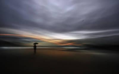 Panning Photograph - Rainy Night by Santiago Pascual
