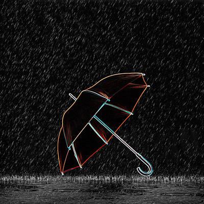 Drips Digital Art - Rainy Night  by Art Spectrum