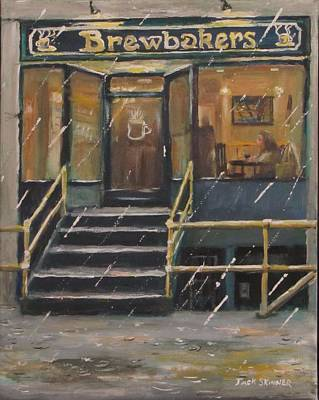 Painting - Rainy November Afternoon Coffee by Jack Skinner