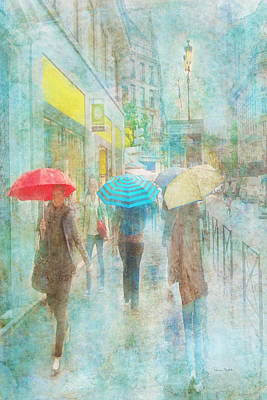 Digital Art - Rainy In Paris 5 by Ramona Murdock