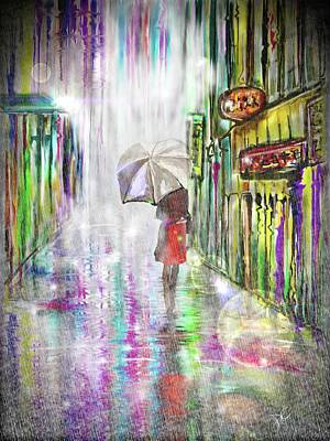 Digital Art - Rainy Paris Day by Darren Cannell