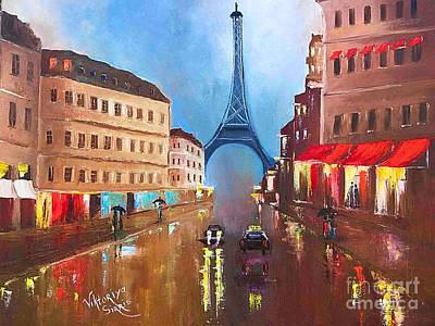 Rainy Paris Art Print by Viktoriya Sirris