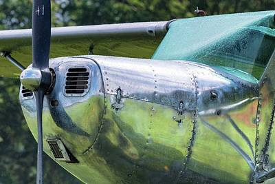 Photograph - Rainy Reflections - 2018 Christopher Buff, Www.aviationbuff.com by Chris Buff