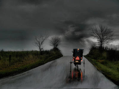 Photograph - Rainy Ride by William Griffin