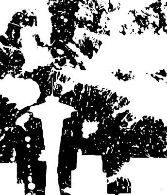 Seattle Skyline Digital Art - Rainy Seattle Night by Katrina Britt