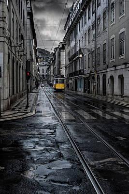 City Streets Photograph - Rainy Street by Jorge Maia