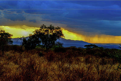 Photograph - Rainy Sunset In Tanzania by Marilyn Burton