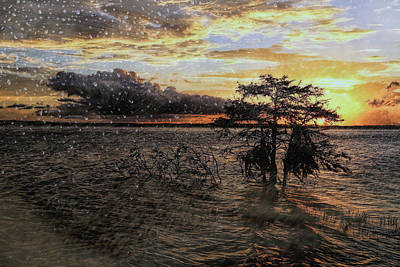 Photograph - Rainy Sunset by Judy Vincent