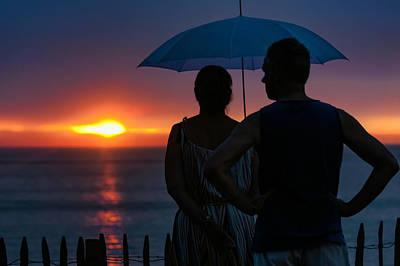 Photograph - Rainy Sunset by Nadia Sanowar