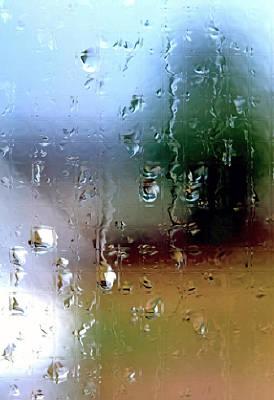 Rainy Window Abstract Art Print by Steve Ohlsen