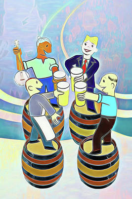 Digital Art - Raise A Glass To Wicked Weed by John Haldane