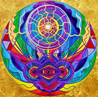Spiritual Art Painting - Raise Your Vibration by Teal Eye  Print Store
