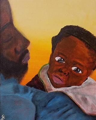 Love Painting - Raising A King by Jerel Ferguson