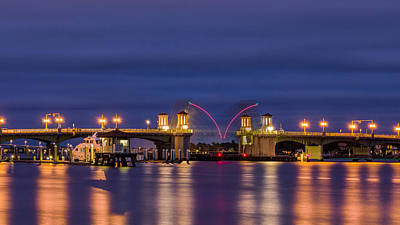Photograph - Raising Bridge Of Lions  by Rob Sellers