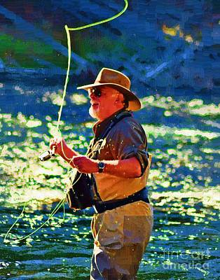 Yellowstone Digital Art - Raising Cane by Diane E Berry