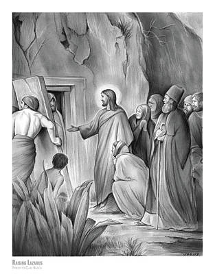 Drawings Rights Managed Images - Raising Lazarus Royalty-Free Image by Greg Joens