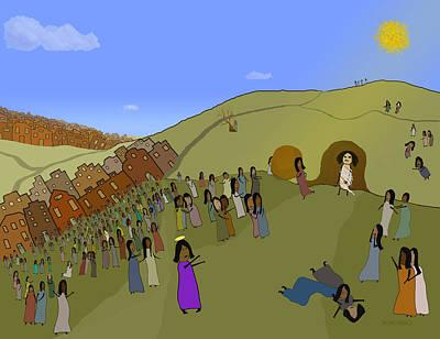 Back To Life Digital Art - Raising Lazarus by Thomas Marblo