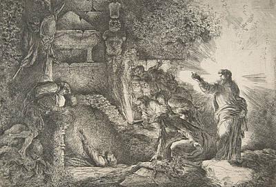 Relief - Raising Of Lazarus by Treasury Classics Art