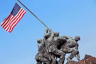 Photograph - Raising The American Flag At Iwo Jima by Cora Wandel