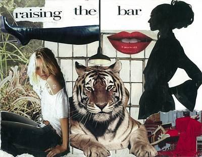 Raising Mixed Media - Raising The Bar by Leigh Ann DiDomenico