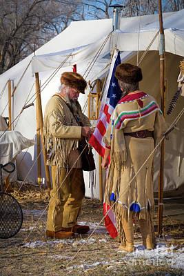 Photograph - Raising The Flag by Jon Burch Photography