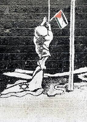 Photograph - Raising The Flag by Munir Alawi
