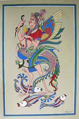 Raj Hanshi Fish Art Print by Rabindra Meher