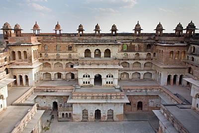 Raj Mahal Palace In Orchha Fort Art Print by Aivar Mikko