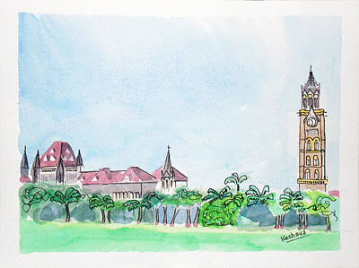 Rajabai Clock Tower And Bombay High Court Art Print