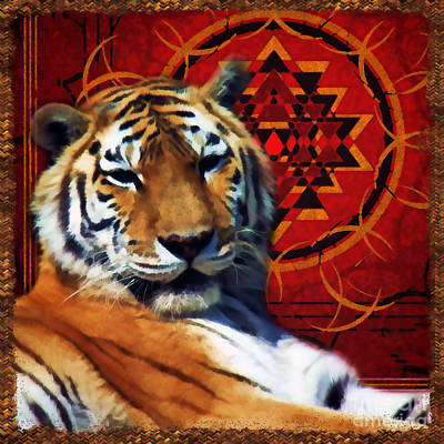 Digital Art - Rajah In Repose 2016 by Kathryn Strick