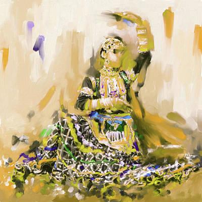 Painting - Rajasthani Dancer 436 3 by Mawra Tahreem