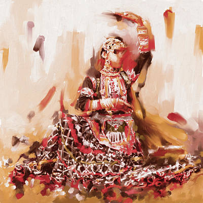 Rajasthani Dancer Art Print by Mawra Tahreem