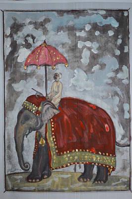 Painting - Rajasthani Elephant by Vikram Singh