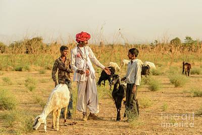 Photograph - Rajasthani Goatherd 01 by Werner Padarin