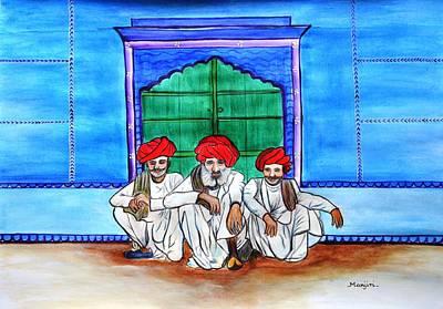 Typography Tees - Rajasthani Men Vishranti by Manjiri Kanvinde
