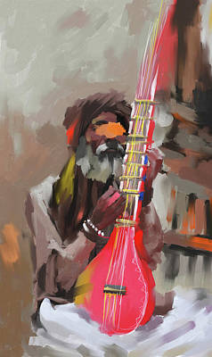 Painting - Rajasthani Musician 438 3 by Mawra Tahreem