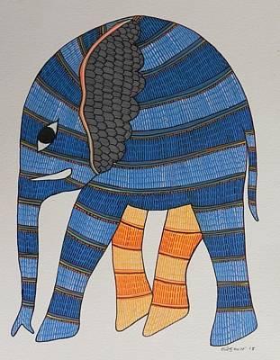 Shyam Painting - Raju 149 by Rajendra Shyam