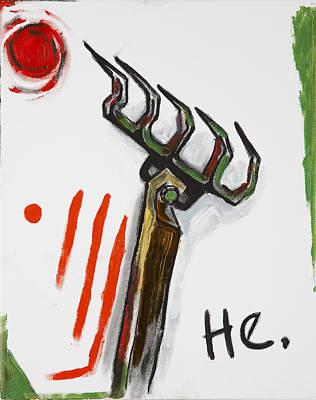 Painting - Rake by Hans Magden