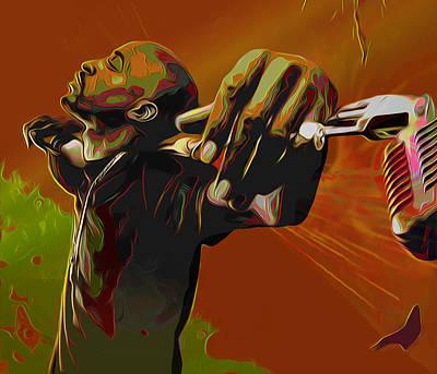 Hip Hop Soul Painting - Rakim by Fli Art