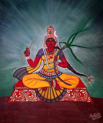 Painting - Rakta Chamundi by Pratyasha Nithin
