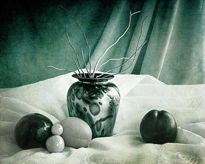 Photograph - Raku Pottery Still Life by Sandra Selle Rodriguez