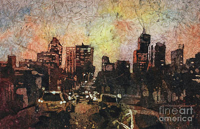 Painting - Raleigh At Night by Ryan Fox