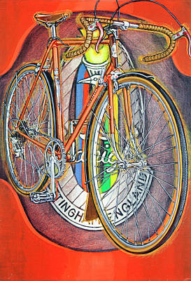 Painting - Raleigh Gran Sport by Mark Howard Jones