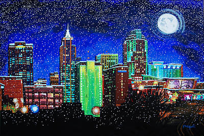Painting - Raleigh In Winter by Tommy Midyette